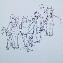 A Basingstoke walking group set off from Eastrop Park for their Monday morning walk - Rosemary