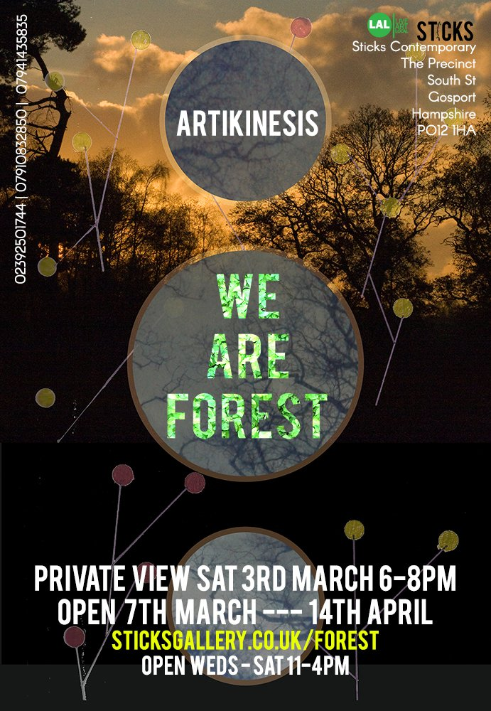 Contemporary Flyer | Sticks Contemporary Flyer For We Are Forest Artikinesis